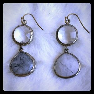 Cute Anthropologie Stone Dangle Earrings